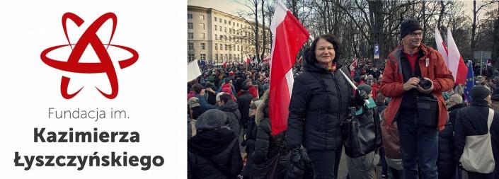 PikietaDemonstracja wobronie demokracji 13-12-2015logo gabriel Narutowicz logo